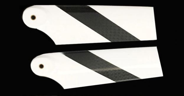 1192-1 RJX Carbon fiber 450 tail blades 62mm